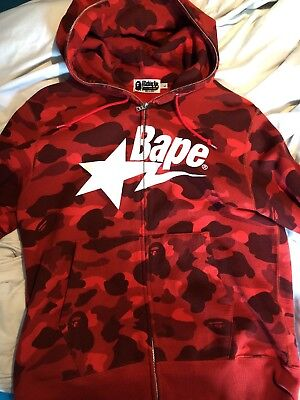 aad6bacc0362 BAPE RED CAMO Hoodie Rare Size Large - EUR 289
