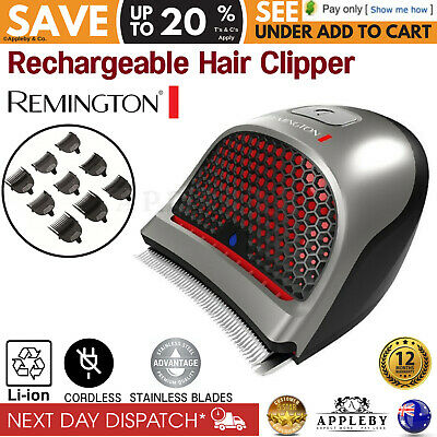 Remington DIY Mens Cordless Hair Clippers Crew Cut Shaver Trimmer Cutting