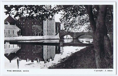 WICK The Bridge RP Postcard by J Adams, unused