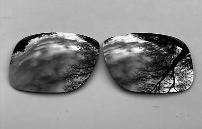 Etched Polarized Black Mirrored Replacement Oakley Holbrook Lenses