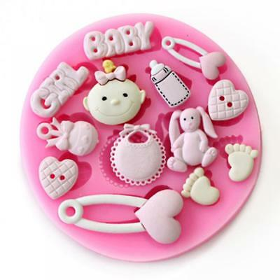 Baby Girl Theme Reusable Silicon / Soap / Fondant Icing / Chocolate Mould