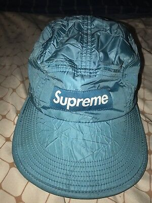 e4c50aa8344 Supreme NY Wrinkle Nylon Hat Camp Cap Black 5 Panel FW 15 Bogo Nas Blimp