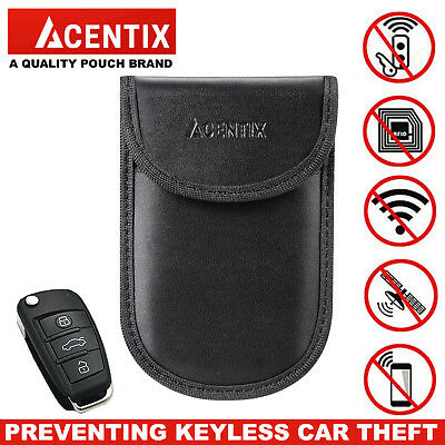 Keyless Entry Car Key Fob Signal Blocker Guard Protector Faraday Bag Pouch ACNTX
