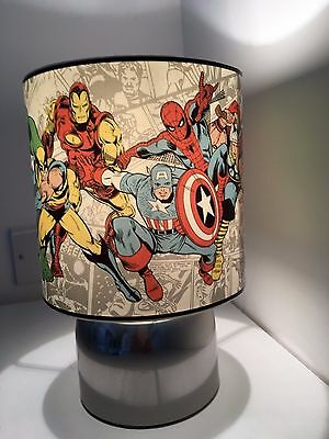 High Quality Marvel Avengers Superhero White Touch Lamp  3 Settings Boys Bedroom Night  Light