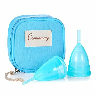 Coomammy Reusable Menstrual Cup with Zipper Bag,Most Economic and Comfortable Fe