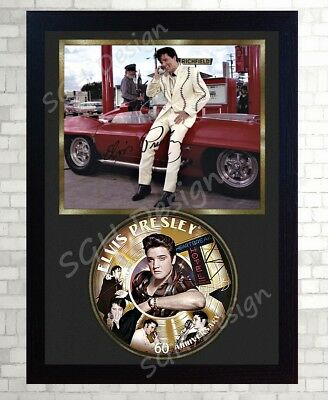 Elvis PRESLEY SIGNED FRAMED PHOTO CD Disc 60th Anniversary Perfect gift