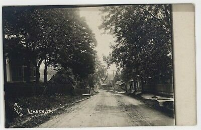 RPPC Street View LINDEN PA Mick Lycoming County Pennsylvania Real Photo Postcard