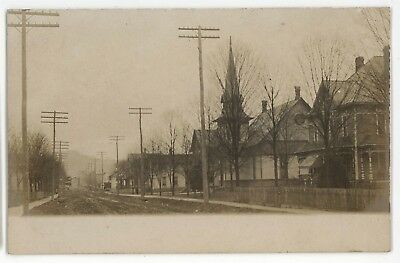 RPPC Street View BROCKWAY PA Jefferson County Pennsylvania Real Photo Postcard
