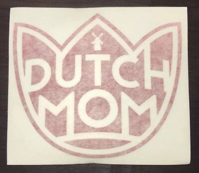 Dutch Bros Dutch Mom Red Tulip Sticker/Decal Mother's Day May 2017