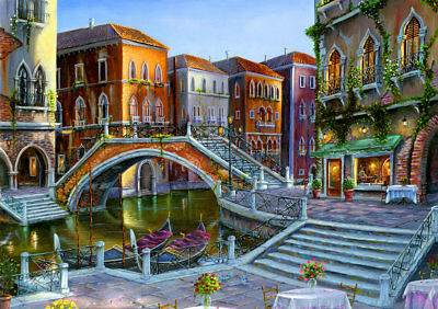 Best gift Bridge Venice Oil painting Art wall Picture Print on canvas Home Decor