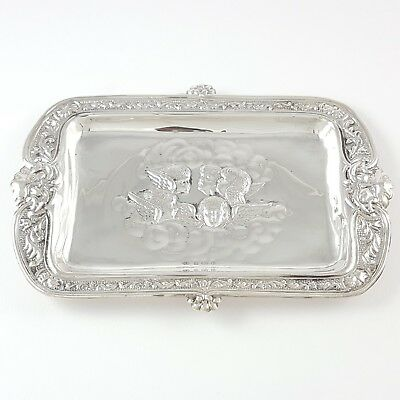 Antique Sterling Silver Reynolds Angels Pin Dish Tray Mitchell Bosley & Co 1904