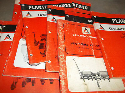 ALLIS-CHALMERS OPERATOR'S MANUALS for Planter's Mixed Lot of 10