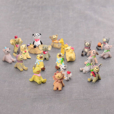 1/10PCS Mini Resin Look Up At The Sky Small Animals Miniatures Decor Accessories