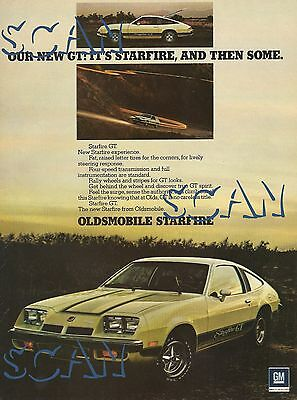 1975 Oldsmobile Starfire GT Magazine Advertisement 8x11 General Motors Olds Ad