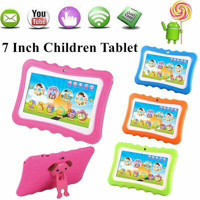 "7"" Inch Android 4.4 Quad Core Kids Tablet Dual Camera WiFi 1GB+8GB AU Plug QB"