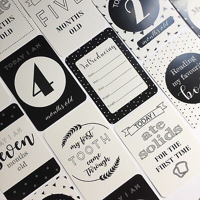 ON SALE - Monochrome Baby Moments & Milestone Cards - 30 Pack