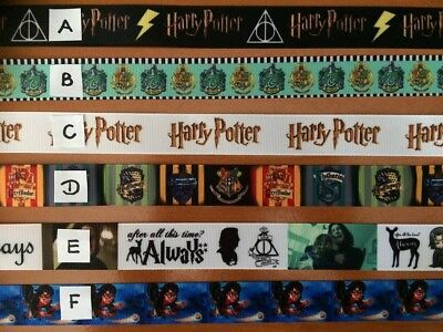 Harry Potter Ribbon Sold by 2M Sizes vary see listed details -Craft - Hair etc