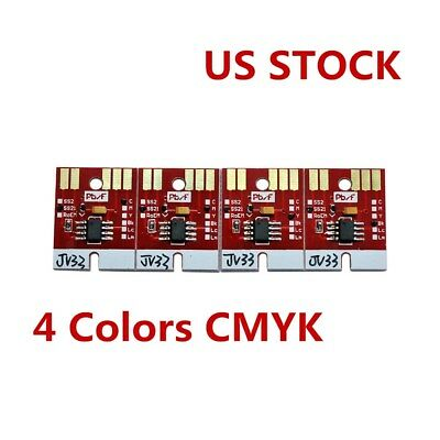 NEW Chip Permanent for Mimaki JV33 SS21 Cartridge 4 Colors CMYK US Stock