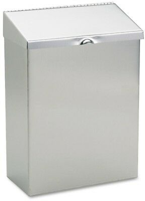 HOSPECO 8 in. x 4 in. x 11 in. Wall Mount Sanitary Napkin Receptacle Stainless