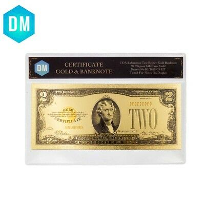 Birthday Gifts 1928 Year Commemorative Gift Money 24k Gold Plated Bill In COA
