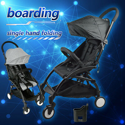 Pram Lightweight Baby Stroller Foldable Pushchair Carry-on Travel Board Plane
