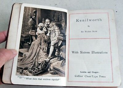 Antique Book: Kenilworth by Sir Walter Scott, c.1906, 16 Illustrations (7273)