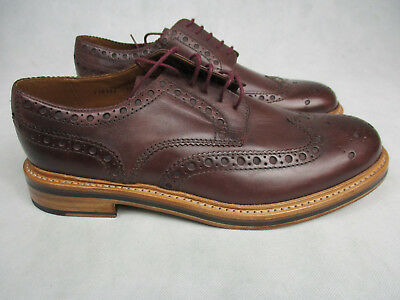 Men's Grenson Oxford Archie Brown Leather Brogues Shoe UK 11 New in Box 110432