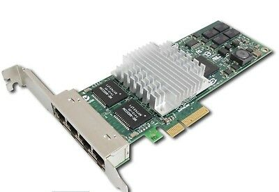 HP NC364T PCIe Quad Port Gigabit Network Card Full height