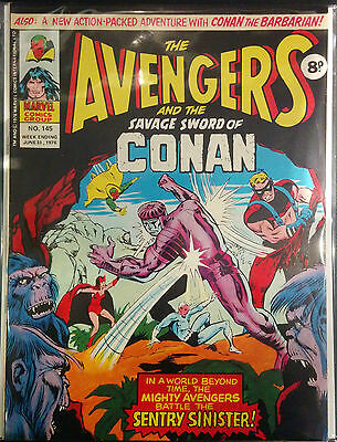 THE AVENGERS #145 Savage Sword Of Conan FN 1º DIBUJO MARVEL REVISTA