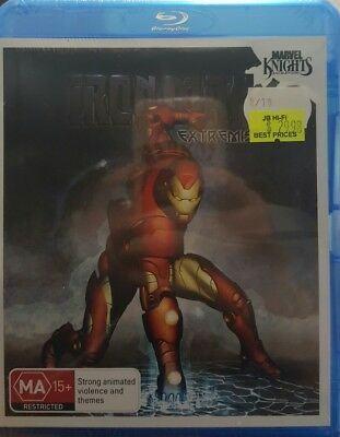 *New & Sealed*  Marvel Knights - Iron Man: Extremis (Blu-ray, 2010) Region B AUS