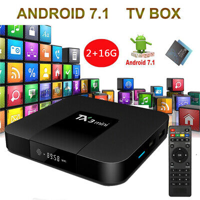 TX3 mini Smart Android 7.1 TV Box Amlogic S905W Quad Core H.265 Mini PC 2Go+16Go