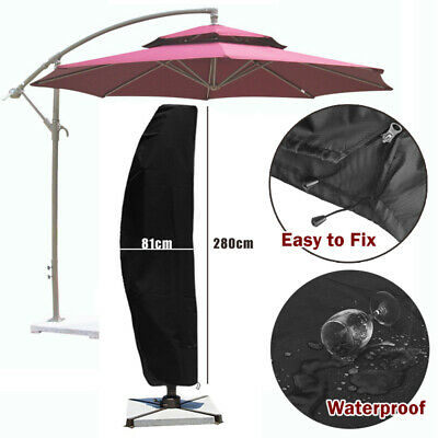 Heavy Duty Parasol Cantilever Outdoor Garden Hanging Umbrella Cover Sun Shade UK