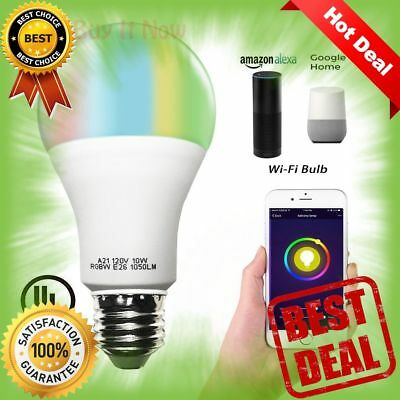 Smart A21 RGBW Tunable Warm White amp Color LED Bulbs 10W WiFi APP Smartphone