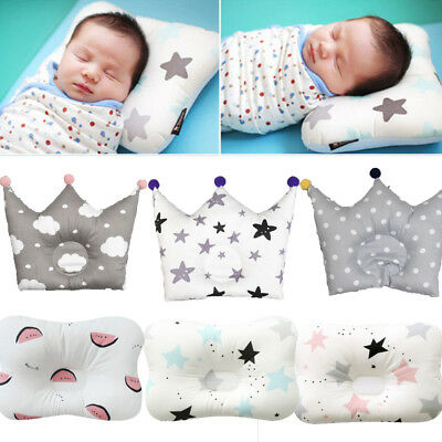 Soft Infant Baby Cotton Pillow Newborn Prevent Flat Head Cushion Sleep Support