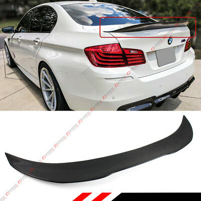 FOR 2011-16 BMW F10 5 Series & M5 Carbon Fiber PSM Style High Kick Trunk Spoiler