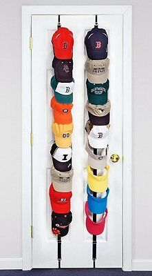CapRack 8 Baseball Cap Hat Holder Rack Organizer Storage Door Closet Hanger