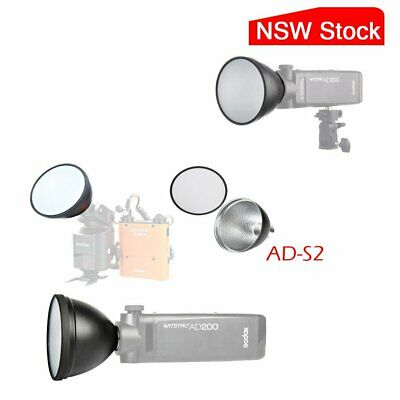 AU Godox AD-S2 Stardard Reflector With Soft Diffuser For AD200 AD360II Flashes