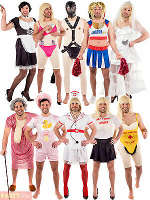 Mens Stripper Nurse French Maid Gimp Costume Male Stag Do Funny Fancy Dress