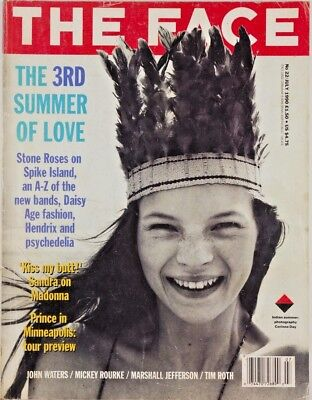 Kate Moss CORINNE DAY John Waters STONE ROSES The Face magazine July 1990 No.22