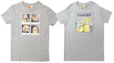 Boys T-Shirt Despicable Me Tee Minions Grid Cooler Cotton Top Kids 3 to 14 Years