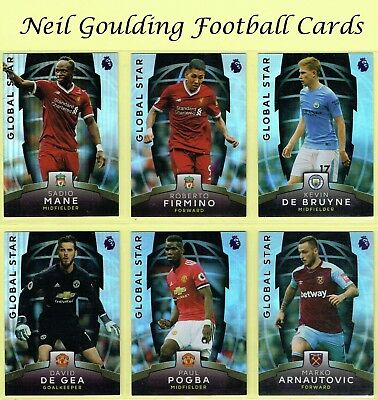 Topps Premier League PLATINUM 2017-2018 ☆ GLOBAL STAR ☆ Football Cards #101-#140