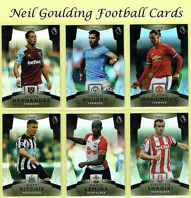 Topps Premier League PLATINUM 2017-2018 ☆ ICON ☆ Football Insert Cards #161-#180