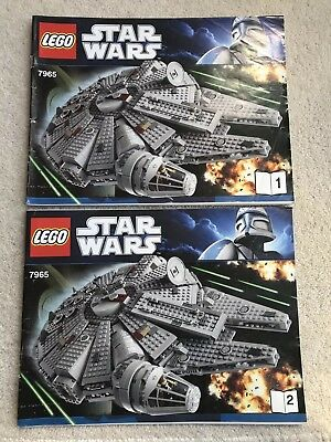 lego star wars 7965 millenium falcon instructions book 1 2 only