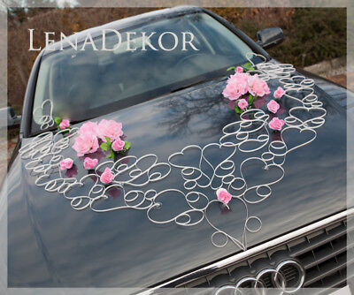 wedding car decoration, ribbon , BRÖLLOP , limousine decoration ALA L PINK