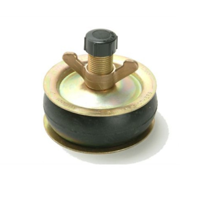 "Bailey 1961 Drain Test Plug 6"" 150mm Plastic Cap Steel Plate Brass Rubber Bung"
