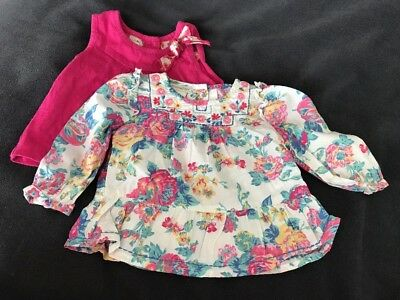 Baby Monsoon Pretty Summer Top Clothes Bundle Size 0-3 Months