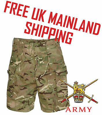 GENUINE BRITISH ARMY MTP COMBAT SHORTS Camouflage issue multi terrain UK