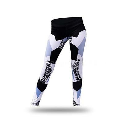 Women's Printed Compression Yoga Pants Active Workout Leggings Stretch P2F0