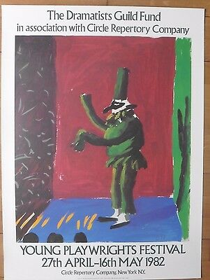 David Hockney Poster Lithograph - Young Playwrights' Festival