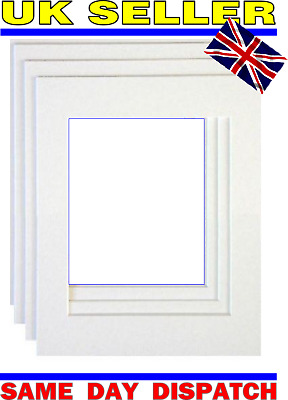 Pack of 3 White Picture Photo Mounts Photo Frames 5 x 7 Size